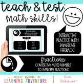 Teach & Test: Math Skills! Fractions: Mixed Numbers to Improper Fractions