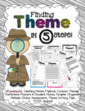 Finding Theme in 5 Steps - CCSS Packet with PowerPoint, Fl