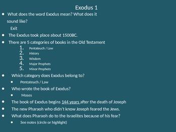 Teach Through Exodus (Exodus 1-3)