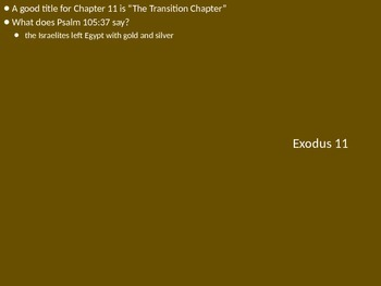 Teach Through Exodus (Exodus 10-12)