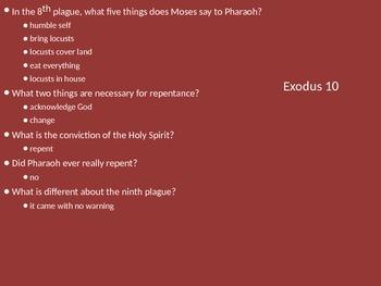 Teach Through Exodus (Exodus 10-12)