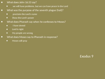 Teach Through Exodus (Exodus 7-9)