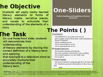 Teach-To-Learn Literary Elements