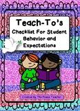 Teach-To's for Behavior Expectations