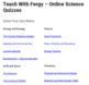 Teach With Fergy Online Science Quizzes - Four Quizzes FREE