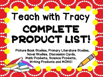 COMPLETE PRODUCT LIST - Teach with Tracy