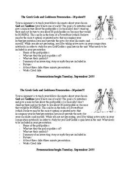 Teach Your Classmates (Greek God/Goddess)