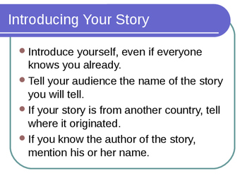 Teach Your Students - How to Begin a Storytelling!