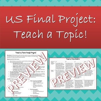 Teach a Topic Final Project for US History