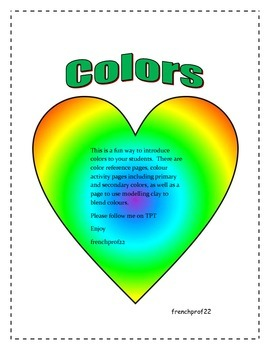 Teach about the colours