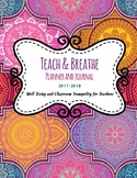 Teach and Breathe Planner and Journal