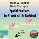 Teach and Practice Basic Concepts:  Spatial Positions - In Front of & Behind
