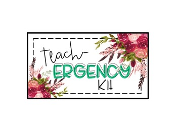 Teach-ergency Kit Freebie (Teacher Emergency Kit Cover)