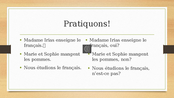 Teach how to form French Questions! Easy and fun way!