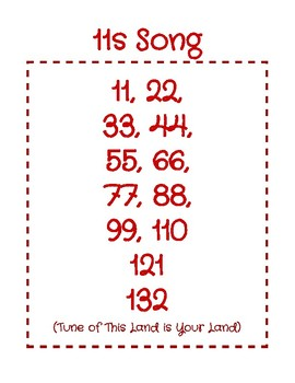 Teach the 11 Multiplication Facts Through Song