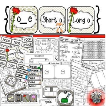 Magic E: Long Vowels {Long Vowel Word Work, Games, Student Reader}