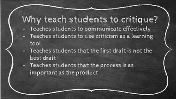 Teach the Critique Process Lesson and Project