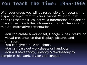 Teach the Time, an Introduction to The Outsiders