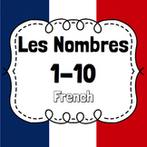 Numbers 1-10 in French/Nombres 1-10 Flashcard slide presentation