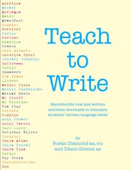Teach to Write a Paragraph