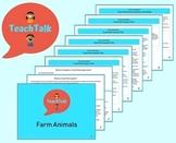 TeachTalk Farm Animals Activity Plans