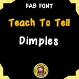 FONT FOR COMMERCIAL USE TeachToTell DIMPLES FONT