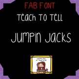 FONT FOR COMMERCIAL USE  - TeachToTell JUMPIN JACKS