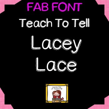 FONT FOR COMMERCIAL USE TeachToTell LACEY LACE FONT