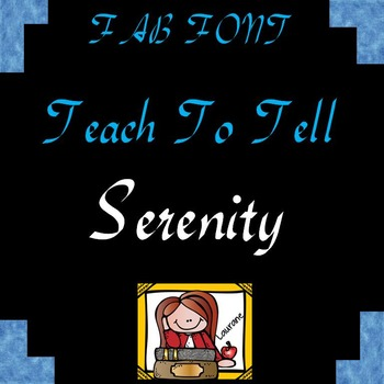 FONT FOR COMMERCIAL USE TeachToTell SERENITY FONT