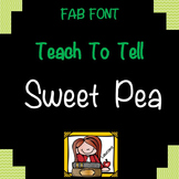 FONTS FOR COMMERCIAL USE - TeachToTell SWEET PEA HANDWRITING FONT