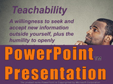 Teachability PowerPoint Presentation
