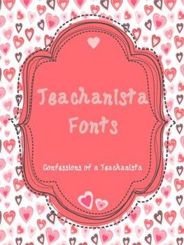 Teachanista Fonts - Personal and Commercial Use