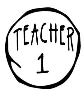 Teacher 1 Teacher 2. . . Shirt Imprint