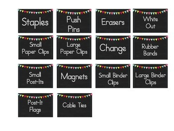Teacher Tool Box Labels