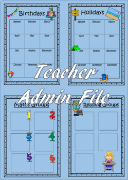 Teacher Admin Binder {{{Editable Version}}}