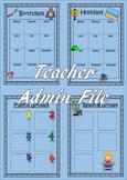 Teacher Admin Binder {{{Editable Version}}}