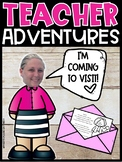 Flat Teacher Adventures! Mail yourself to your students! #DistanceLearningTPT