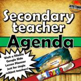 Teacher Agenda/Planner for the Secondary Classroom