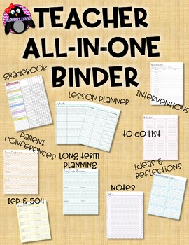 Teacher All-In-One Binder!