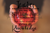 Teacher Apple Poster