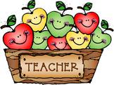 Teacher Apples Clip Art Image