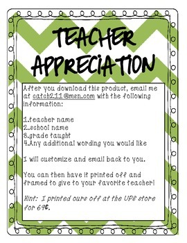 Teacher Apprecation