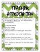Teacher Apprecation