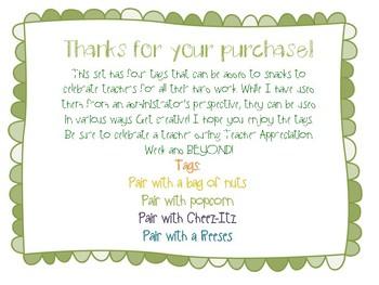 Teacher Apprecation Week Tag Freebie