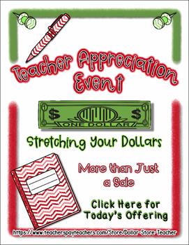 Teacher Appreciation #10 - August Event - Freebie Included  #StartFreshBTS