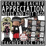 Teacher Appreciation Gift Tags- Rockin'' Theme Teacher App