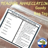 Teacher Appreciation Gift Tags for Back to School or End of the Year Goody Bags