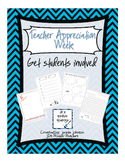 Teacher Appreciation Activities for Students Freebie