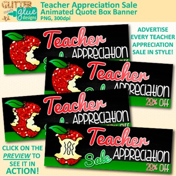 Teacher Appreciation Animated Quote Banner for Your Teachers Pay Teachers Store