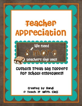 Teacher Appreciation Bag Topper